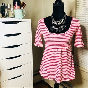 🌻SALE 5 for $25 • J.Crew Pink & White Striped Top